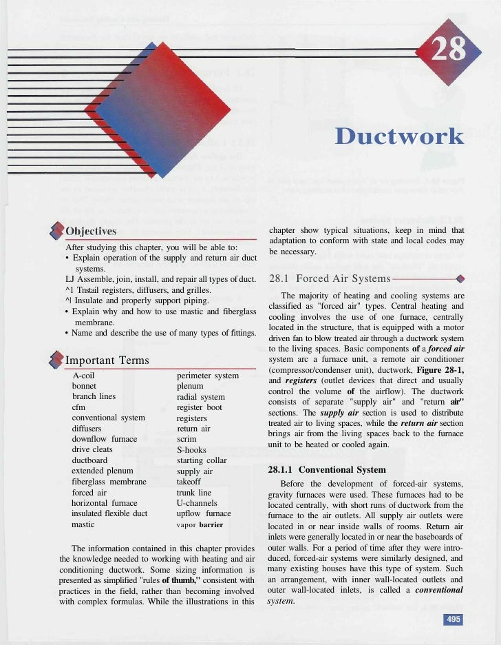 Ductwork                                                                chapter show typical situations, keep in mind that...