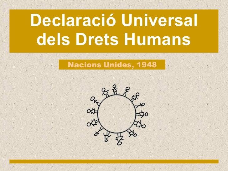Presentació en català dels Drets Humans