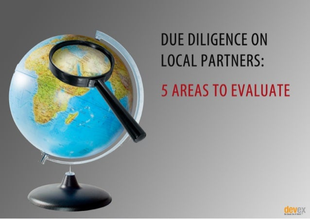 Due Diligence on Local Partners: 5 Areas to Evaluate