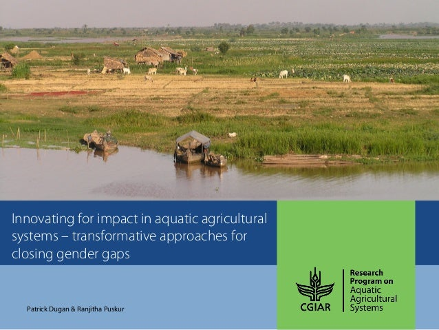 Innovating for impact in aquatic agricultural systems – transformative approaches for closing gender gaps Patrick Dugan & ...