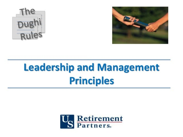 Leadership and Management Principles