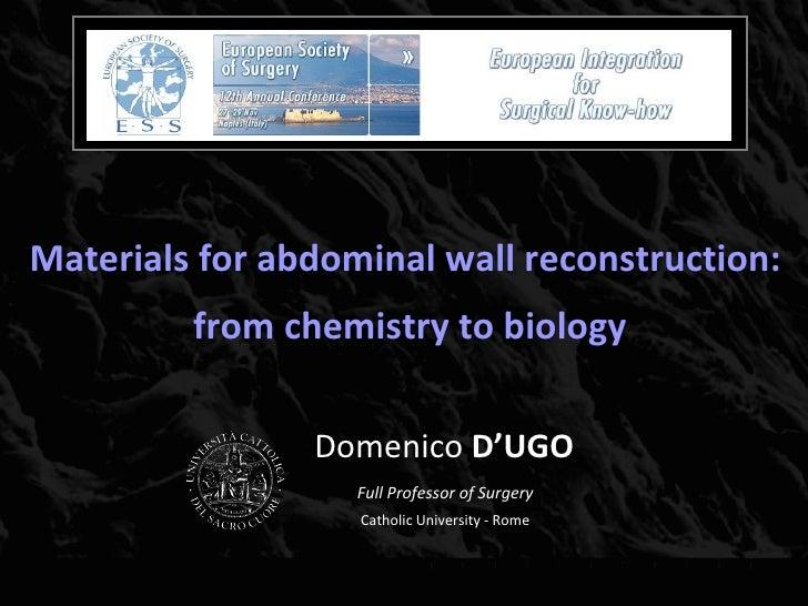 D'Ugo Biomateriali 2008