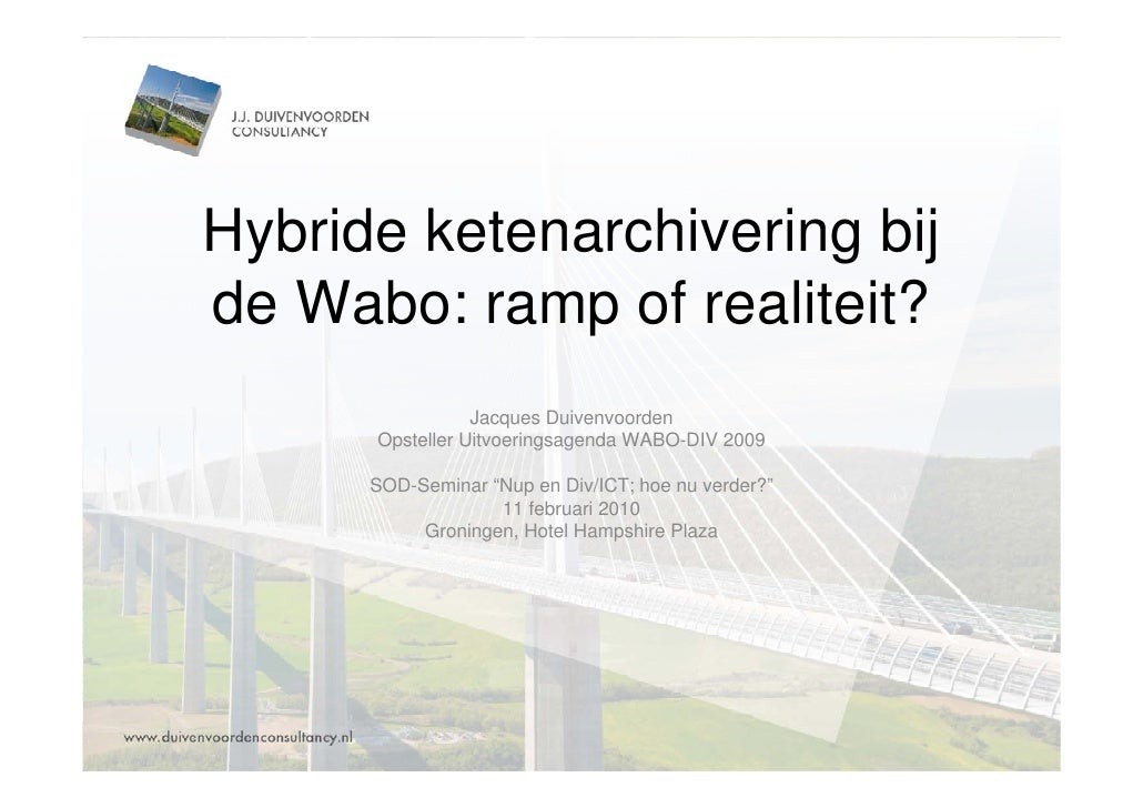 Duivenvoorden Consultancy Presentatie Sod Seminar 20100211