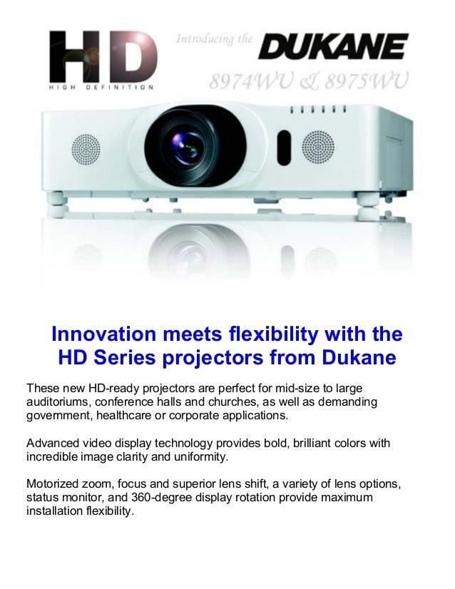 Dukane High Definition projectors
