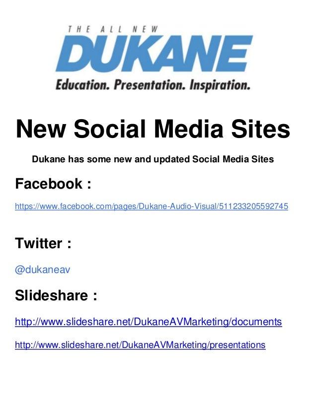 Dukane social media sites