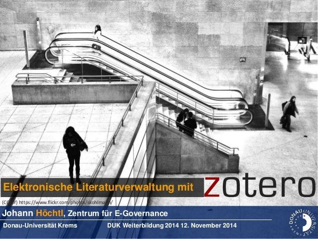 Elektronische Literaturverwaltung mit Zotero
