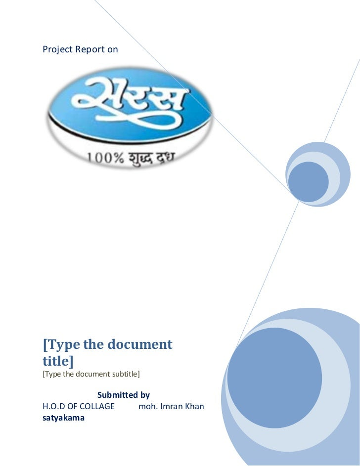 Project Report on[Type the documenttitle][Type the document subtitle]             Submitted byH.O.D OF COLLAGE      moh. I...
