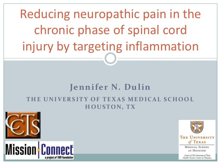 Reducing neuropathic pain in the chronic phase of spinal cord injury by targeting inflammation<br />Jennifer N. Dulin<br /...