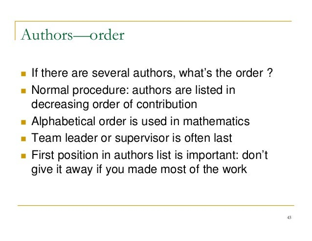 research paper authors