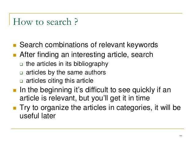 Google scientific papers