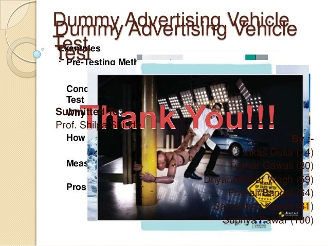 Dummy Advertising Vehicle Dummy Advertising Vehicle Test Examples Test Method :- Pre-Testing Concept Of Dummy Advertising ...