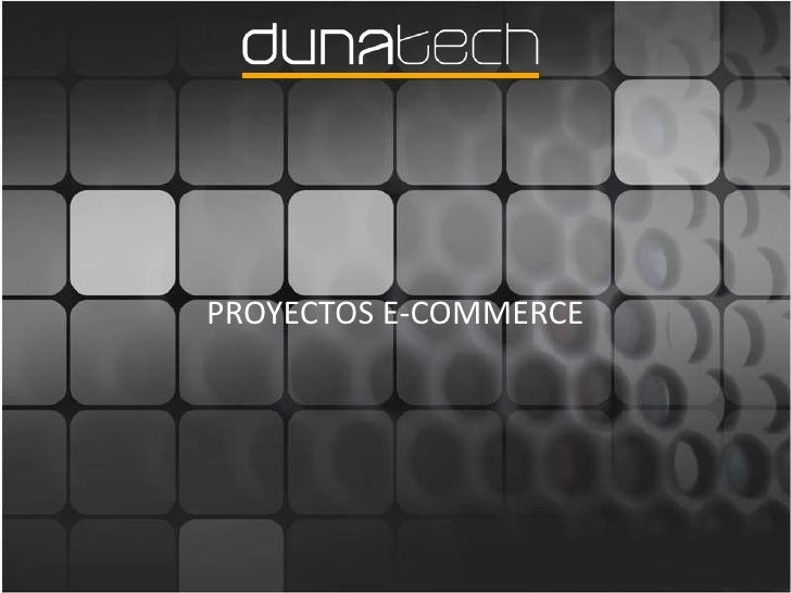 PROYECTOS E-COMMERCE