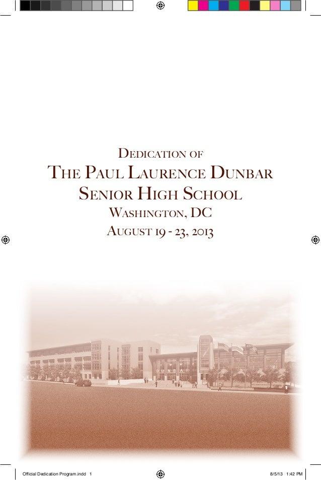 Dunbar Dedication Week Program
