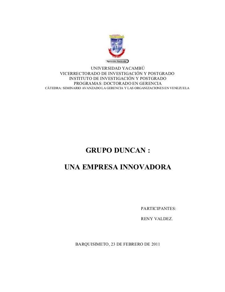 Caso Duncan - Resumen