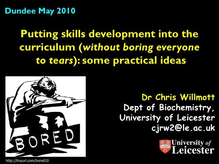 Skills development in the curriculum