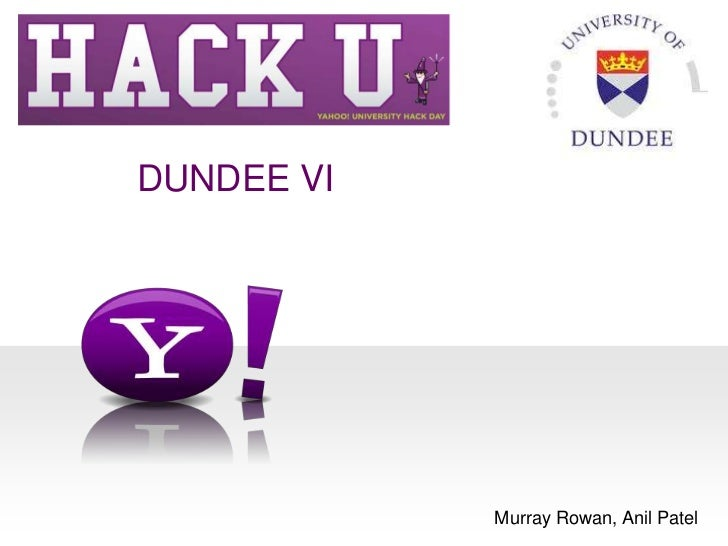 Dundeeunihack2012
