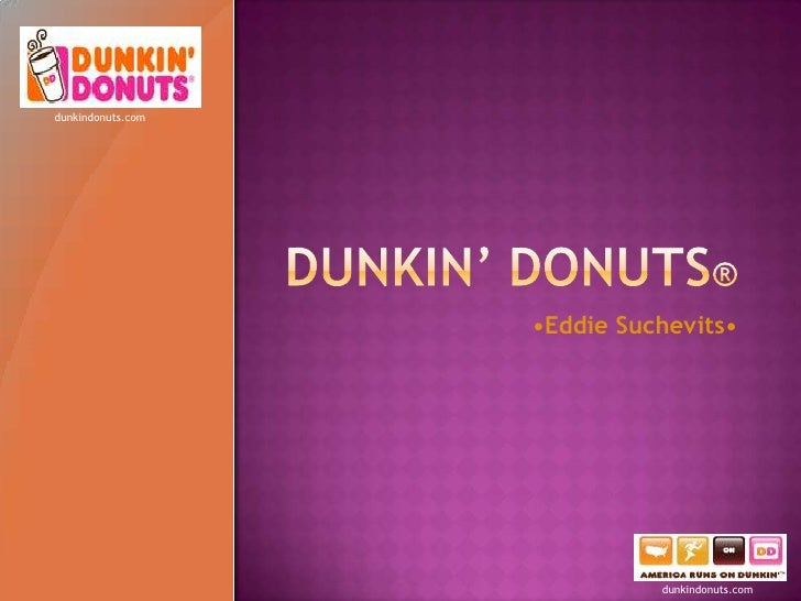 dunkin donuts research paper