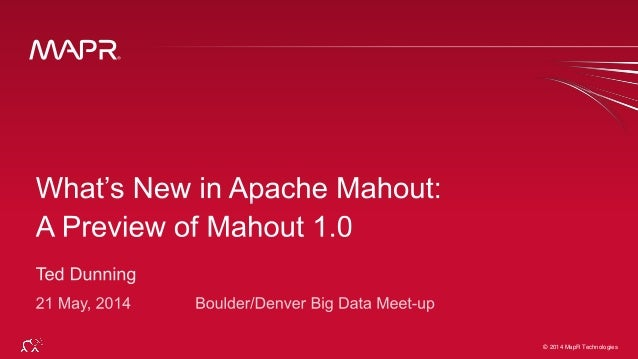 What's new in Apache Mahout