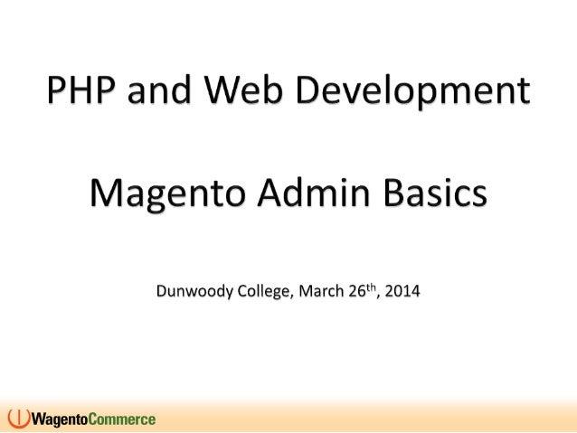 Dunwoody presentation   march 26 - 2014