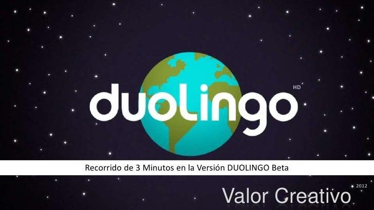 HDRecorrido de 3 Minutos en la Versión DUOLINGO Beta                                                          2012        ...