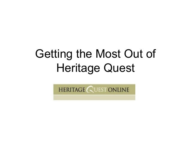 Getting the Most Out of Heritage Quest