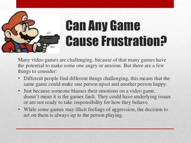 violence from video games essay Continue for 4 more pages » • join now to read essay video game violence and other term papers or research documents.