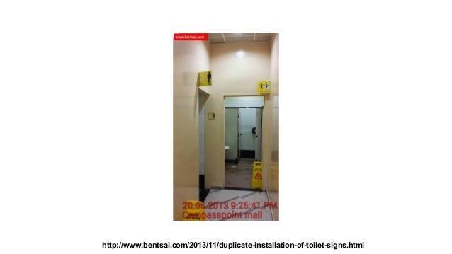 Duplicate installation of #toilet signs affects #compasspoint profitability