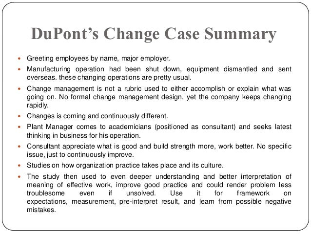 du pont case How to perform a dupont analysis | apple inc case study | the four week mba - duration: 9:07 the four-week mba 13,566 views.