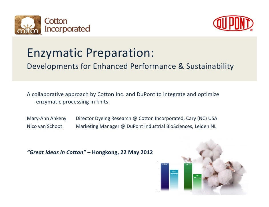 Enzymatic Preparation: Developments for Enhanced Performance & SustainabilityD l       t f E h       dP f          & S t i...