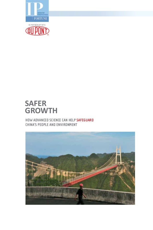 Safer Growth: How advanced science can help safeguard China's people and environment