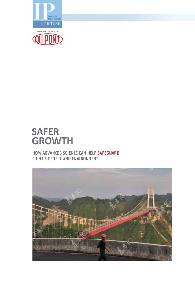 SafeRGrowthHow advanced science can help SafeguardChina's people and environmentIN Partnership with