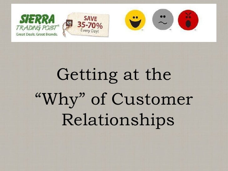 "Getting at the <br />""Why"" of Customer Relationships <br />"