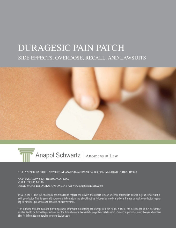 Duragesic Pain Patch