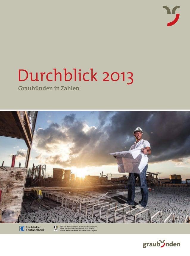 Durchblick 2013 Graubünden in Zahlen