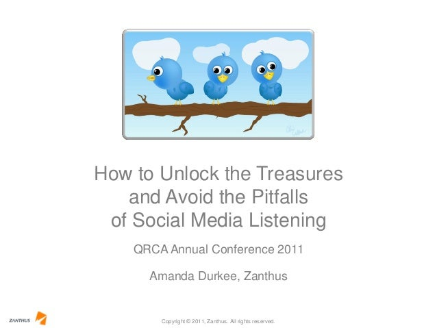 Copyright © 2011, Zanthus. All rights reserved. QRCA Annual Conference 2011 How to Unlock the Treasures and Avoid the Pitf...
