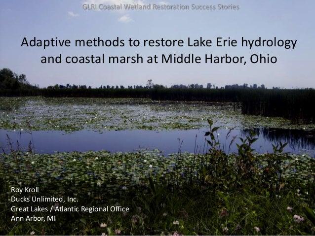 Adaptive methods to restore Lake Erie hydrology_Kroll