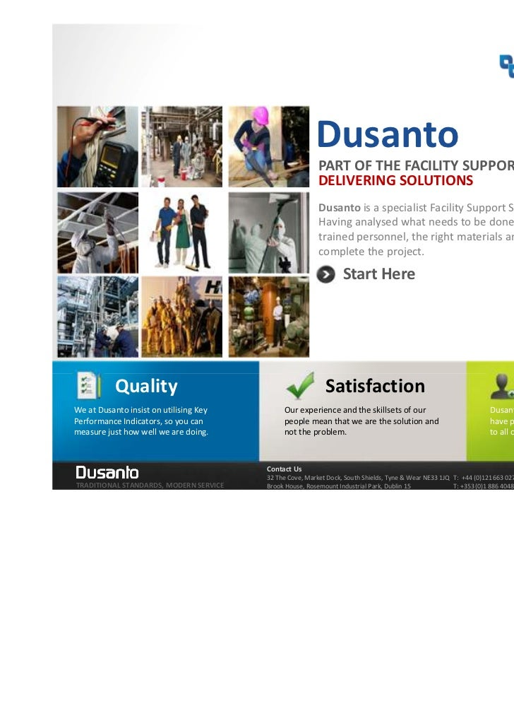 Dusanto                                                         PART OF THE FACILITY SUPPORT SERVICES GROUP               ...