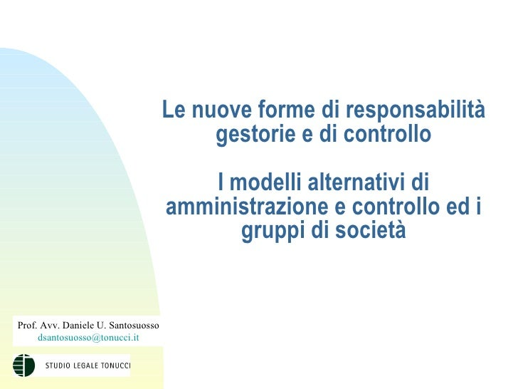 Prof. Avv. Daniele U. Santosuosso - Presentazione 12 marzo 2004