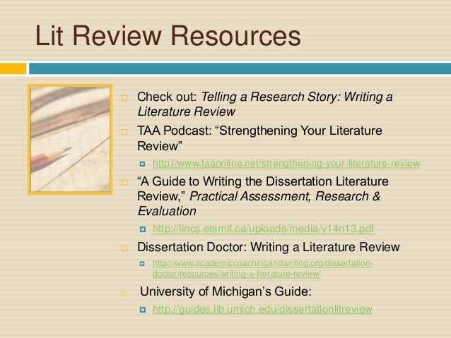 What's the best way to organize a Literature Review paper?