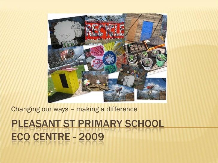 Pleasant St Primary School Enviro Centre 2009