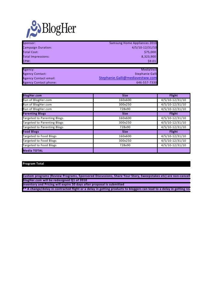 Sponsor:                                                   Samsung Home Appliances 2010 Campaign Duration:                ...