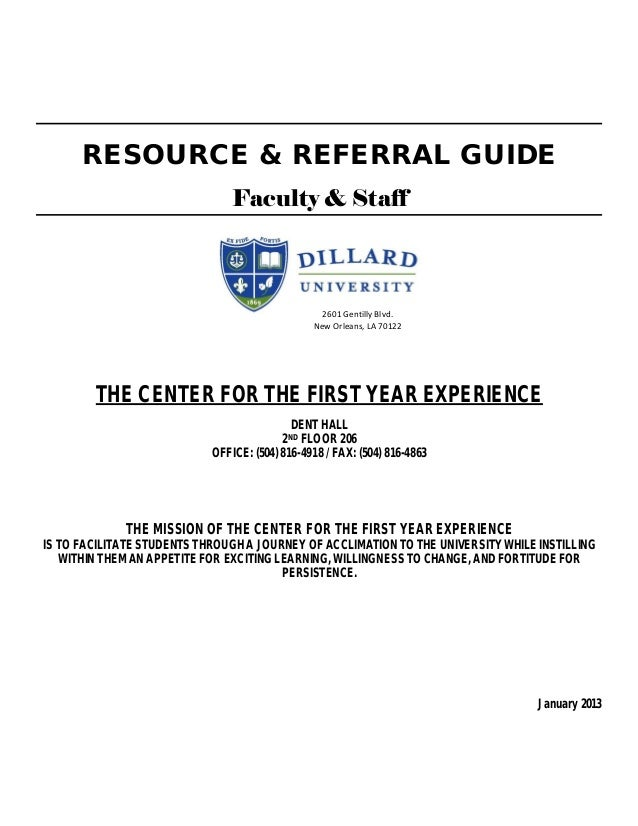 RESOURCE & REFERRAL GUIDE                                Faculty & Staff                                                  ...