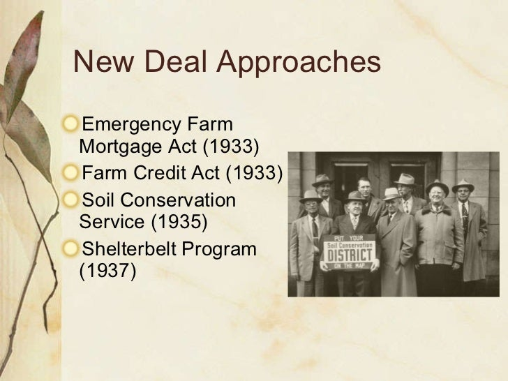 a review of the emergency conservation work act and the new deal Started as part of the new deal, the civilian conservation corps, or the ccc, ran from 1933 to 1942 the ccc was a work relief program that was publicly funded to.