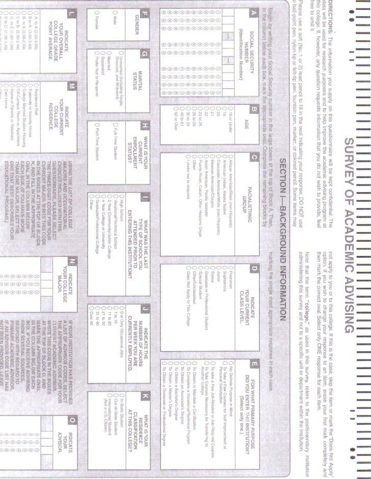 DU Survey of Academic Advising Form
