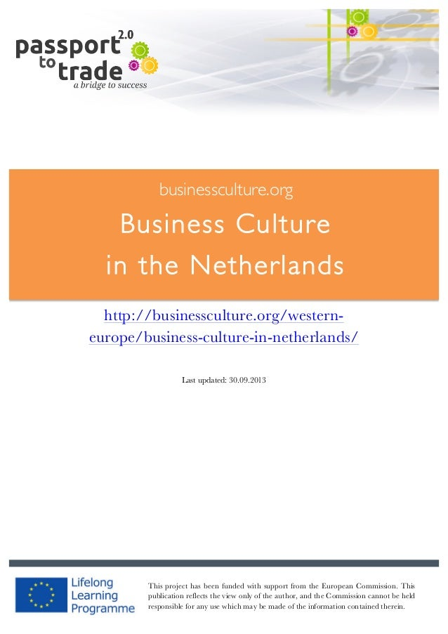 Dutch business culture guide - Learn about the Netherlands