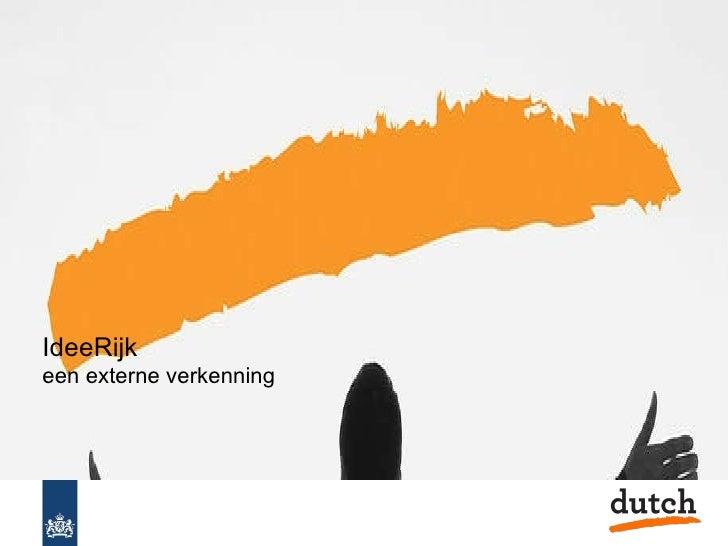Open Innovatie Overheid Dutch verkenning idee rijk totaal v100203