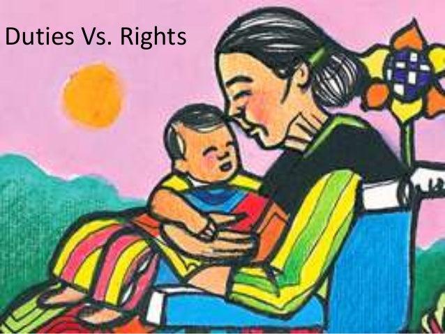 Duties Vs. Rights