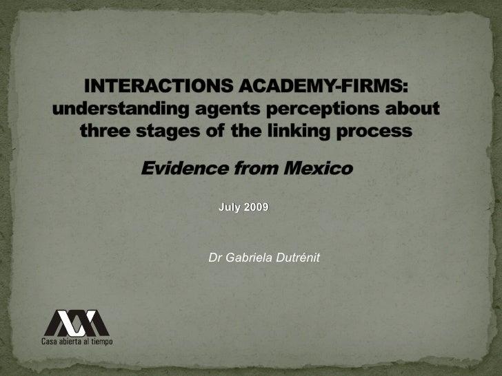 Interactions Academiy-Firms - Caso do México