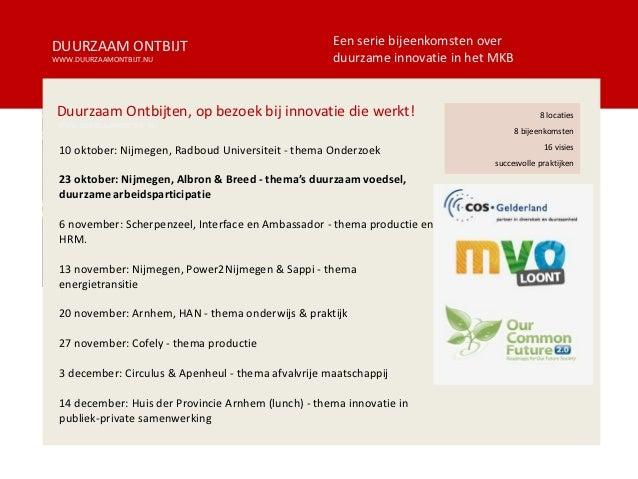 Duurzaam Ontbijt 02 Nijmegen    Voeding en Hrm