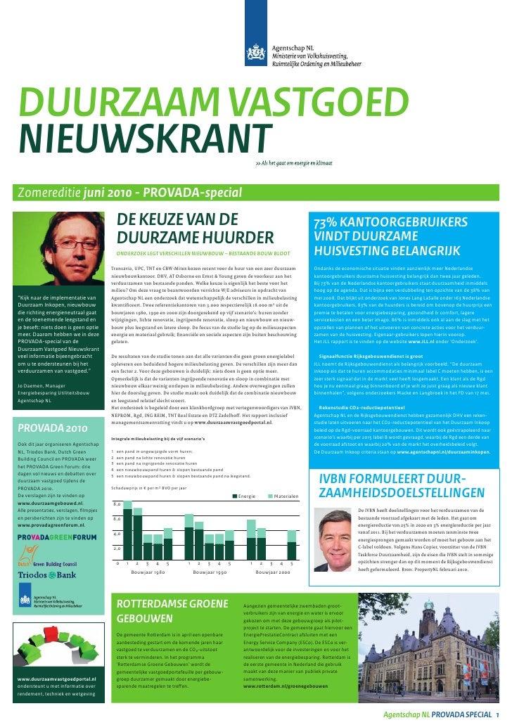 Duurzaam vastgoed nieuwskrant - juni 2010